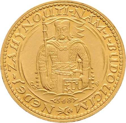 Československo, období 1918 - 1939, Dukát 1923 - číslovaný - číslo 548, 3.488g, nep.hr.,