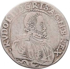 Rudolf II., 1576 - 1612, 1/4 Tolar 1587, Jáchymov-Hoffmann, J.16a, MKČ.400,