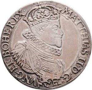 Matyáš II., 1612 - 1619, Tolar 1612, Praha-Hübmer, J.16, MKČ.501, královský
