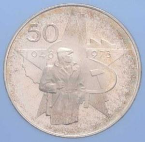 Československo 1961 - 1990, 50 Koruna 1973 - 25 let Února, KM.78 (Ag700, 13.0g,