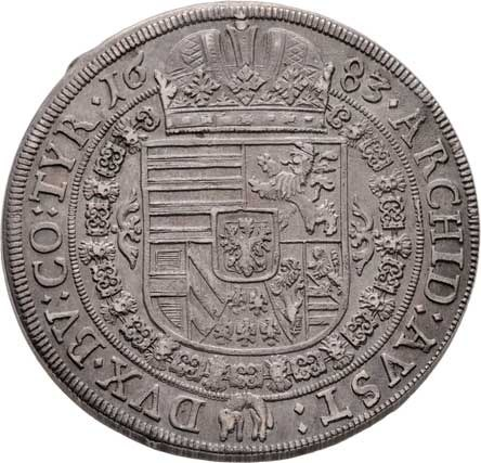 Leopold I., 1657 - 1705, Tolar 1683, Hall, Nech.2387, M-A.182, 29.146g,