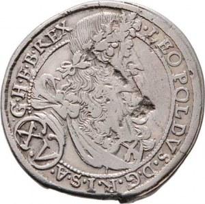 Leopold I., 1657 - 1705, XV Krejcar 1695 bz, Svatý Vít-Strauss, Höll.95.2.3,