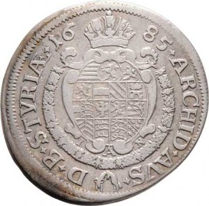 Leopold I., 1657 - 1705, VI Krejcar 1685 IAN, Št.Hradec-Nowak, Nech.2188,