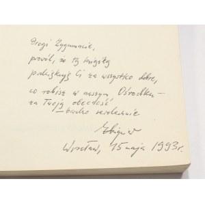 Zbigniew Osiński, Grotowski wytycza trasy [autograf]
