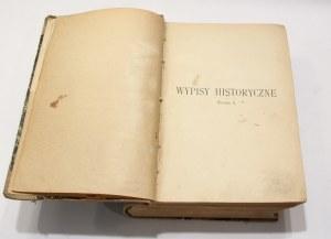 Kazimierz Wachowski, Wypisy historyczne historya starożytna