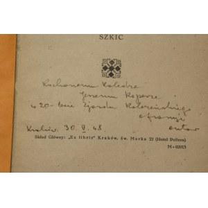 Mieczysław Tobiasz, Szlachta i możnowładztwo w dawnej Polsce szkic [autograf]