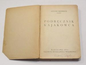 Antoni Heinrich Tonny, Podręcznik kajakowca