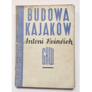 Antoni Heinrich Tonny, Mieczysław Pluciński, Budowa kajaków, plany kajaka p17