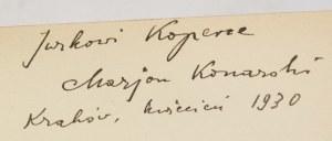 Marian Konarski, Naprzeciw radości [autograf, Szukalczycy]