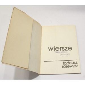 Tadeusz Różewicz, Wiersze [autograf]