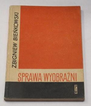 Rafał Wojaczek - odręczny podpis na książce z jego księgozbioru: Zbigniew Bieńkowski Sprawa Wyobraźni