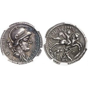 Fonteia, P. Fonteius Capito. Denier 55 av. J.-C., Rome.