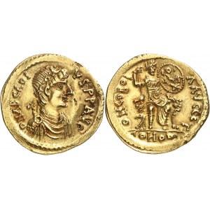 Tribus germaniques, au nom d'Arcadius (après 395). Solidus au nom d'Arcadius après 395, Thrace ou Moésie ?