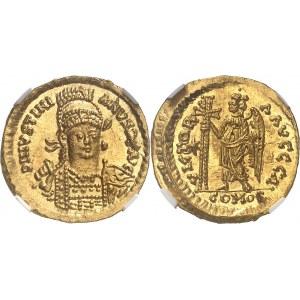 Ostrogoths, Athalaric (526-534). Solidus au nom et au type de Justinien Ier ND (526-534), Rome.