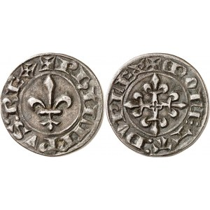 Philippe VI (1328-1350). Piéfort du double parisis, 2e type ND (1341).