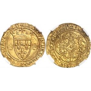 Charles VII (1422-1461). Écu d'or 1ère émission ND (fin 1419), La Rochelle.