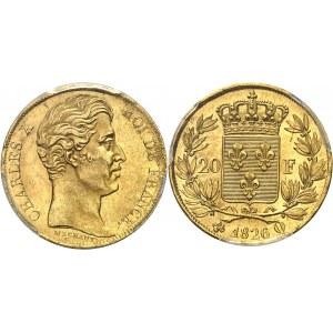 Charles X (1824-1830). 20 francs 1826, Q, Perpignan.