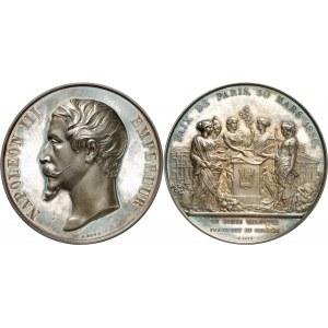Second Empire - Napoléon III (1852-1870). Médaille pour le traité de Paix de Paris entre la France et la Russie 1856, Paris.
