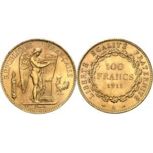 IIIe République (1870-1940). 100 francs Génie 1911, A, Paris.