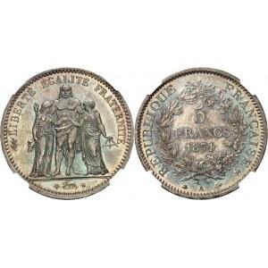 IIIe République (1870-1940). 5 francs Hercule 1874, A, Paris.