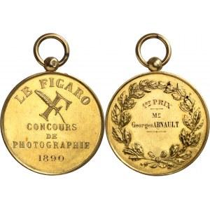 IIIe République (1870-1940). Médaille d'Or, concours de photographie du Figaro 1890, Paris.