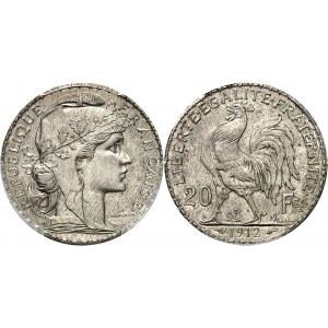 IIIe République (1870-1940). Épreuve de 20 francs Marianne 1912, Paris.