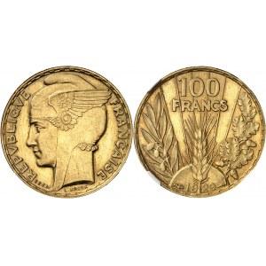 IIIe République (1870-1940). Essai-piéfort de 100 francs Bazor 1929, Paris.