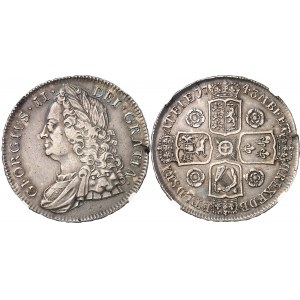 Georges II (1727-1760). Couronne (crown) 1743, Londres.
