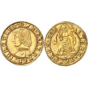 Ferrare (duché de), Hercule Ier d'Este (1471-1505). Ducat ND (1471-1505), Ferrare.