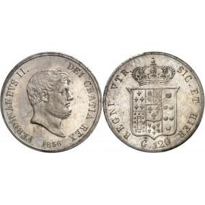 Naples et Deux-Siciles, Ferdinand II (1830-1859). 120 grana 1856, Naples.