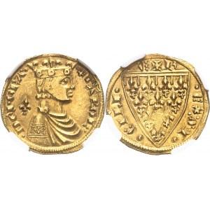 Sicile (royaume de), Charles d'Anjou (1266-1285). Réal d'or ND (1266-1278), Messine.
