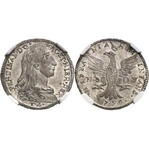 Sicile, Ferdinand IV (1759-1816). 2 tari 1796, Nd-OV, Palerme.