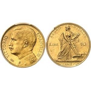 Victor-Emmanuel III (1900-1946). 10 lire 1912, R, Rome.