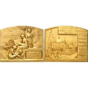 Albert Ier (1889-1922). Médaille, pavillon de la Principauté de Monaco à l'Exposition Universelle de Bruxelles 1910, Paris.