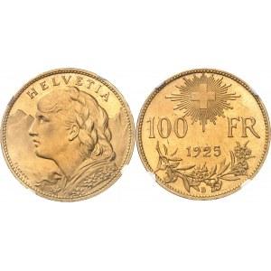 Confédération Helvétique (1848 à nos jours). 100 francs 1925, B, Berne.