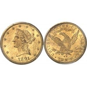 République fédérale des États-Unis d'Amérique (1776-à nos jours). 10 dollars Liberty 1891, CC, Carson City.