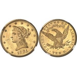 République fédérale des États-Unis d'Amérique (1776-à nos jours). 10 dollars Liberty 1901, S, San Francisco.