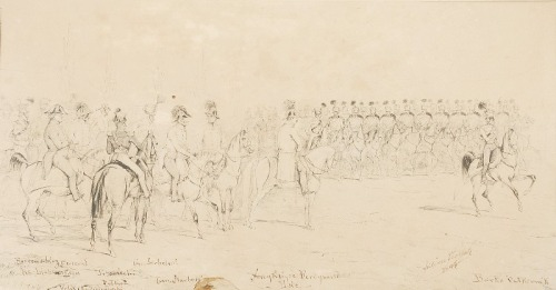 Juliusz KOSSAK (1824-1899), Przegląd wojsk, 1847