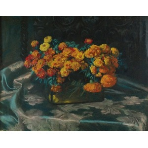 Teodor GROTT (1884-1972), Kwiaty, 1918
