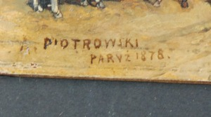Antoni PIOTROWSKI (1853-1924), Postój konnicy, 1878