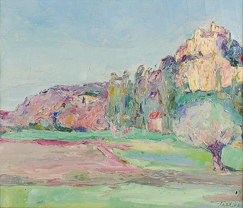 Włodzimierz TERLIKOWSKI (1873-1951), Pejzaż z południa Francji, 1919