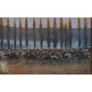 Jan STYKA (1858-1925), Szarża - fragment do Panoramy Siedmiogrodzkiej, 1897