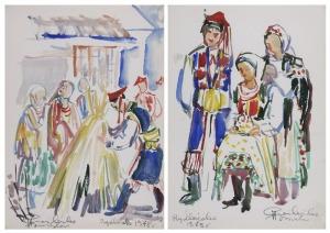 Halina CIEŚLIŃSKA-BRZESKA (1923-2004), Para prac:
