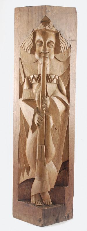 Jan SZCZEPKOWSKI (1878-1964), Muzykujący anioł, 1925