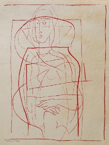 Hieronim SKURPSKI (1914-2006), Akt kubistyczny