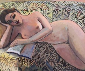 Anna KARPOWICZ-WESTNER (ur. 1951), Na żółtej sofie, 2015