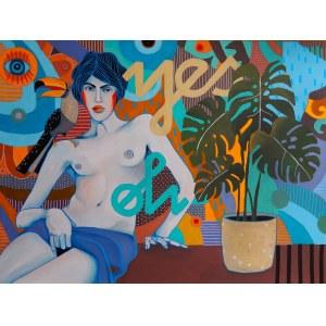 Marcin Painta, Ona i monstera, 2018