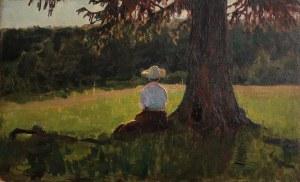 Aleksander Chirkow (1865-1913) Kobieta w cieniu drzewa