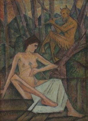 Jerzy Hulewicz (1886-1941) Odalistka i Faun