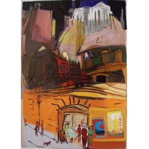 Lech Kunka (1920-1978) Ulica w Paryżu